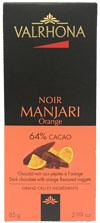 Valrhona Chocolat Noir Manjari 64% Cacao Orange Dark Chocolate With Orange Flavored Nuggats