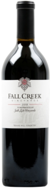 2018 Fall Creek Vineyards Terroir Reflection Tempranillo Salt Lick Vineyards Texas Hill Country