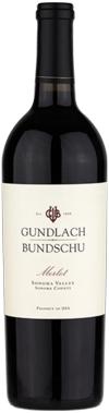 2016 Gundlach Bundschu Merlot Estate Vineyard Sonoma Valley