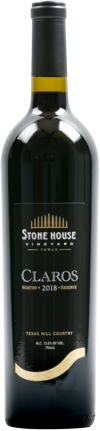 2018 Stone House Vineyard Claros Norton Reserve Texas Hill Country